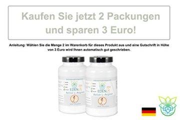 VITARAGNA Eden Active L-Arginin HCL Plus 250 Pulver Pur, vegan, Aminosäure mit optimaler Löslichkeit für pure Kraft, Ausdauer, Muskel & Pump, hochdosiert - 5