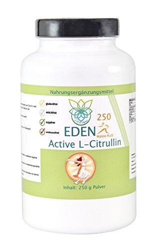 VITARAGNA Eden Active L-Citrullin Malate Plus 250 Pulver, Pure Kraft, Ausdauer & Muskel-Regeneration & Pump Aufbau für Mann & Frau, Arginin Booster, hochdosiert, vegan - 1