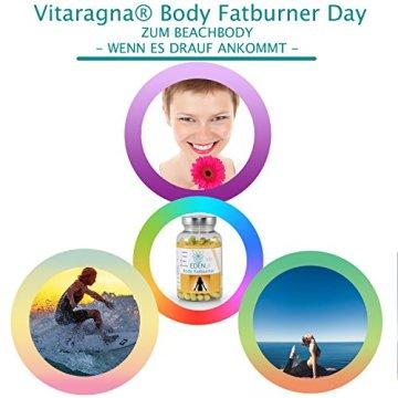 VITARAGNA Eden Body Fatburner Day 120 Kapseln, Fettverbrenner Diät Pillen bzw Abnehm-Pillen, Unterstützung zum natürlich abnehmen, auch bei Bauchfett - 7