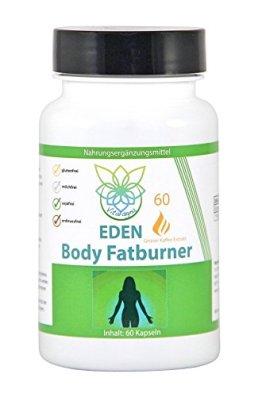 VITARAGNA Eden Body Fatburner Grüner Kaffee Extrakt 60 Kapseln, 500 mg, 50% Chlorogensäure, Green-Coffee Fettverbrenner Diät-Pillen, Abnehm-Pillen zum natürlich abnehmen auch bei Bauchfett - 1