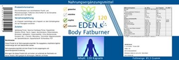 VITARAGNA Eden Body Fatburner Night 120 Kapseln ohne Koffein, Fettverbrenner Diät-Pillen bzw. Abnehm-Pillen, im Schlaf natürlich abnehmen auch bei Bauchfett - 2