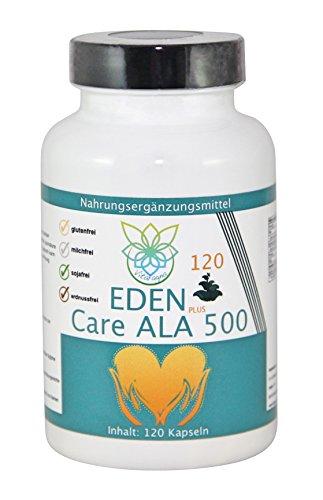 VITARAGNA Eden Care ALA Alpha-Liponsäure Plus 120 Kapseln Plus, hochdosiert mit 500 mg pro Kapsel, Antioxidantien, Anti-Aging & Fatburner für Mann und Frau - 1