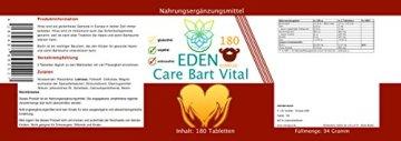 VITARAGNA Eden Care Bart Vital Komplex 180 Tabletten mit Hirse und Biotin für eine gesunde Bartpflege, Bartwuchsmittel für Männer, Bart-Vitalstoffe & Bart-Vitamine & Bart-Kur, hochdosiert - 2