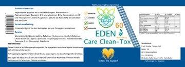 VITARAGNA Eden Care Clean-Tox Aktiv Plus 60 Kapseln Detox Complex, vegan, mit Coenzym-Q10, Mariendistelöl, Rosmarinextrakt, Entgiftungskur zum Abnehmen in der Diät - 2