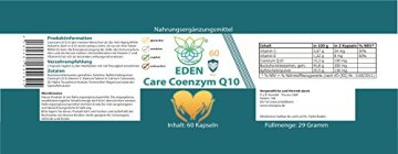 VITARAGNA Eden Care Coenzym-Q10 Plus 60 Kapseln, hohe Wirkkraft durch 100 mg Co-Q10, Vitamin-C und Vitamin-E, Q10 hochdosiertes Antioxidans für Anti-Age, glutenfrei - 2