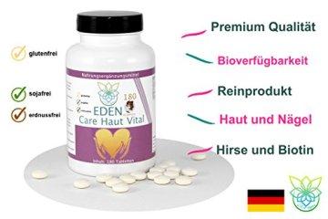 VITARAGNA Eden Care Haut Vital Komplex 180 Tabletten mit Hirse und Biotin für eine gesunde Hautpflege, Haut-Vitalstoffe und Haut-Vitamine als Haut-Kur, hochdosiert - 3