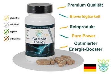 VITARAGNA Gamma Energy Guarana + Koffein 100 Kapseln, Energie-Booster für mehr Wachheit, Aufmerksamkeit, Leistung, Fokus und Aktivität. Energybooster pur, clean - 3