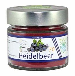 VITARAGNA Heidelbeer Fruchtextrakt 70, pur, Qualitätsprodukt mit Heidelbeer-Extrakt, Heidelbeer-Pulver auch Blaubeer-Fruchtpulver, vegan und ohne Zusätze - 1