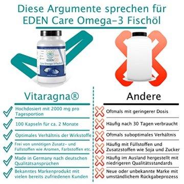 VITARAGNA Omega 3 Fischöl-Kapseln 33 / 22 , EPA / DHA mit natürlichem Vitamin E, hochdosiert mit hohem EPA und DHA Anteil - 4