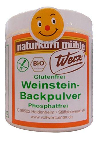 Werz Weinstein Backpulver glutenfrei 2er Pack (2 x 150 g Dose) - Bio - 1