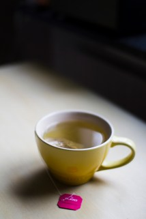"""A cup of Pukka herbal tea """"Love"""" to still our hunger"""