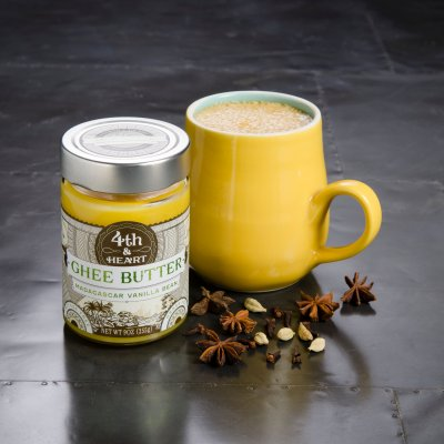 4th & Heart grass-fed ghee uses the highest quality grass-fed butter, sourced from a cooperative of farms in New Zealand. Grass is naturally high in Vitamins A, D, E, K and CLA. When the cow's milk is rich with these vitamins, it goes directly to the butter and therefore, to the ghee. #paleo #certifiedpaleo #ketocertified