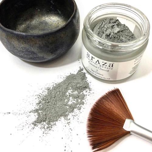 Coconut Activated Charcoal + Sea Greens Treatment Mask 1 - Araza Beauty - Certified Paleo, PaleoVegan - Paleo Foundation