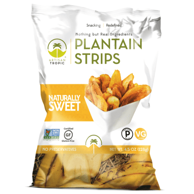 Naturally Sweet Plantain Chips 4.5oz - Artisan Tropic - Certified Paleo, Paleo Vegan - Paleo Foundation