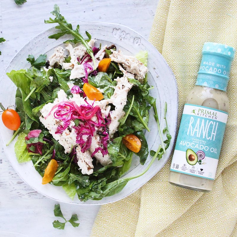 Primal Kitchen Certified Grain Free Certified Paleo Ranch Dressing with Salad