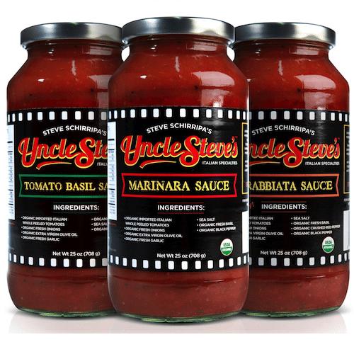 Sauce Lineup - Uncle Steve's Italian Specialties - Certifed Paleo, Paleo Vegan - Paleo Foundation