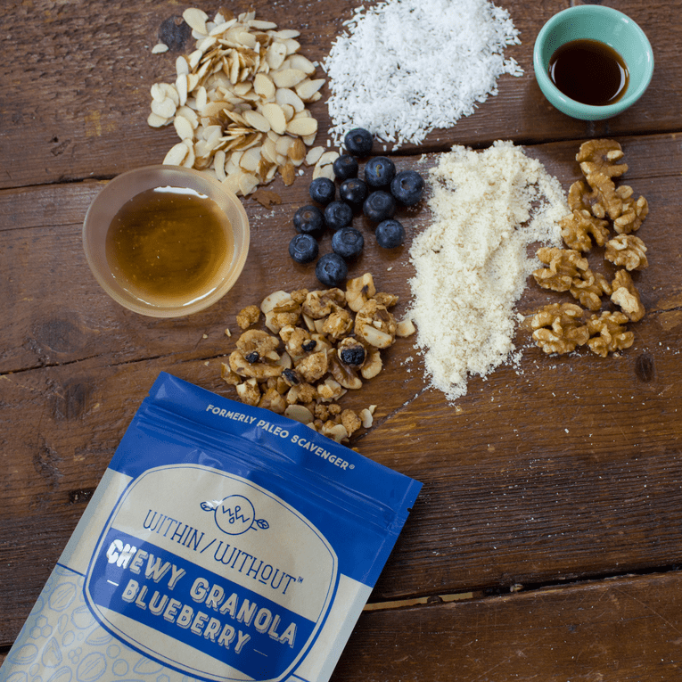 Blueberry Granola - Within/Without - Certified Paleo - Paleo Foundation