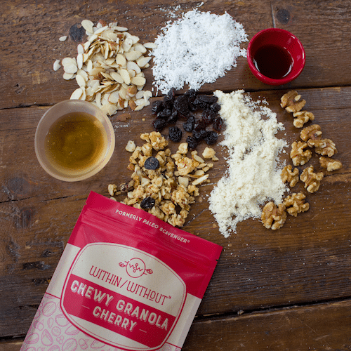 Cherry Granola - Within/Without - Certified Paleo - Paleo Foundation