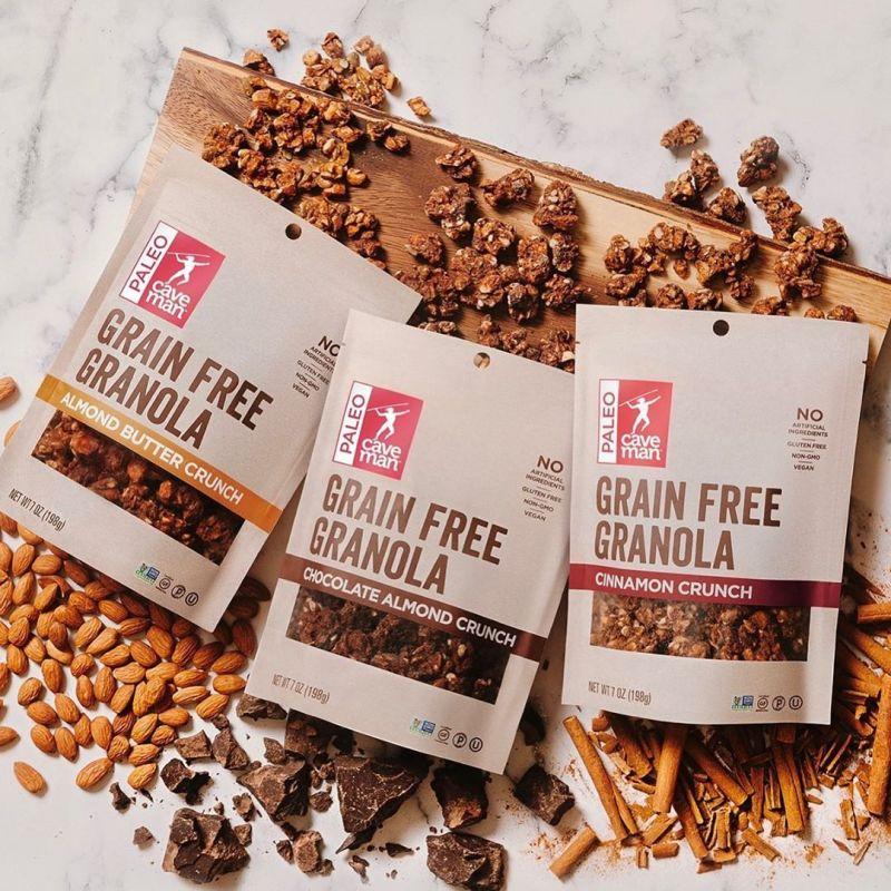 Chocolate Almond Crunch Grain Free Granola - Caveman Foods - Certified Paleo by the Paleo Foundation