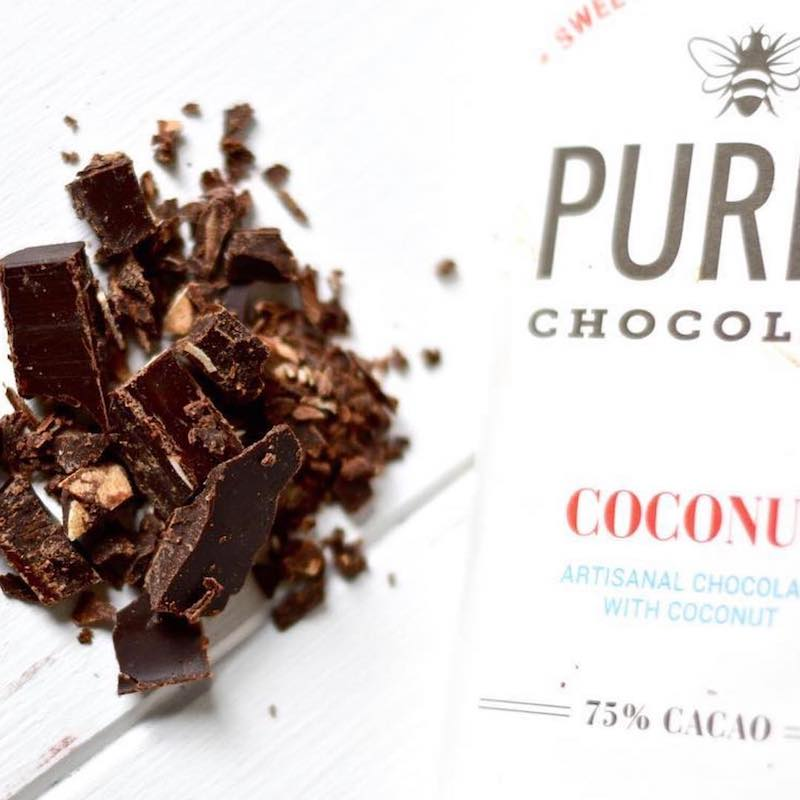 Coconut Chocolate Bar - Pure7 Chocolate - Certified Paleo by the Paleo Foundation