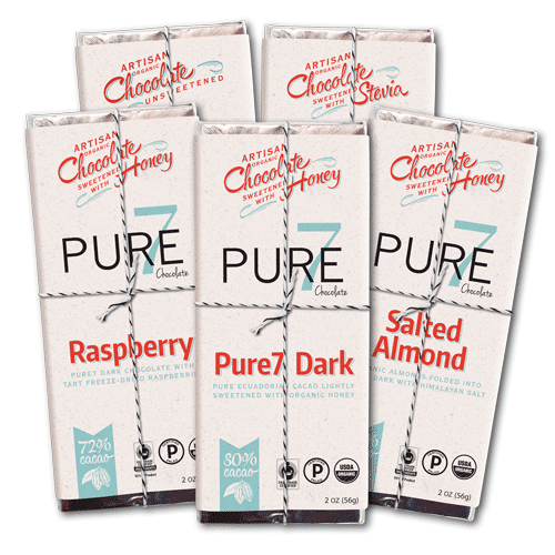 Honey Sweetened Chocolate Assortment from Pure7 Chocolate