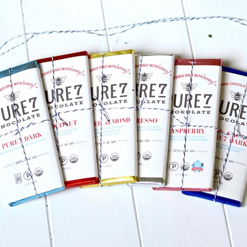 Honey Sweetened Pure7 Chocolate Lineup - Certified Paleo, PaleoVegan by the Paleo Foundation