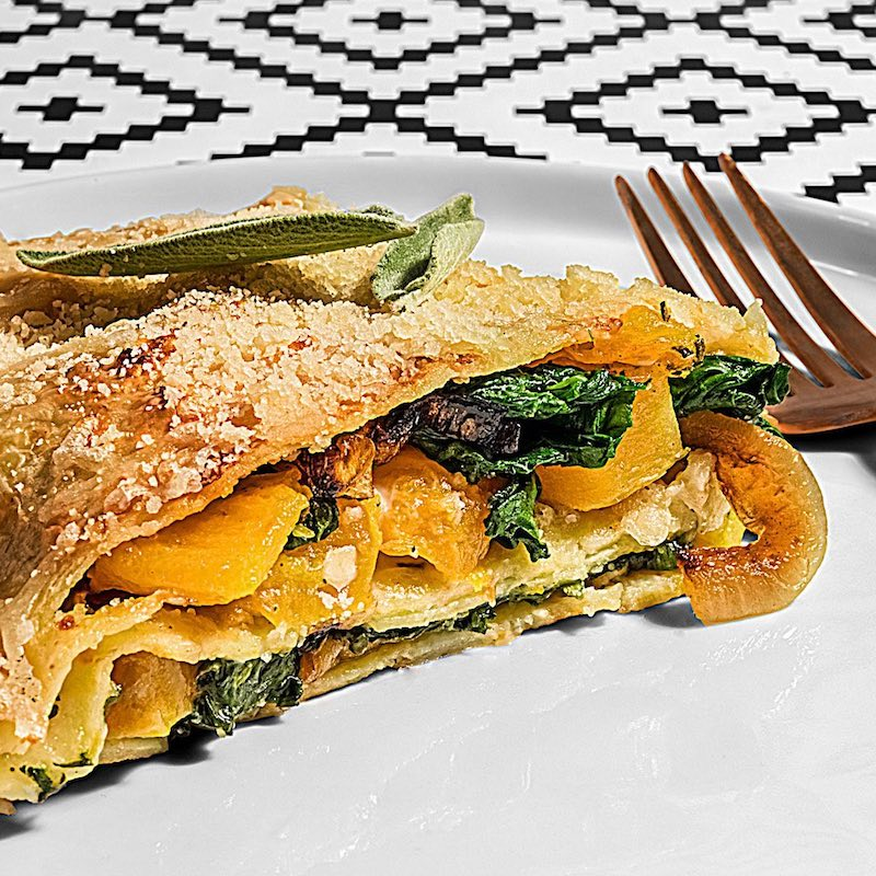 Roasted Butternut Squash & Spinach Lasagna Skillet - Capello's - Certified Paleo by the Paleo Foundation