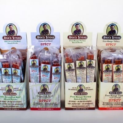 Lineup Free-Range Turkey and Grass-fed Beef Sticks - Nick's Sticks - Certified Paleo, KETO Certified - Paleo Foundation