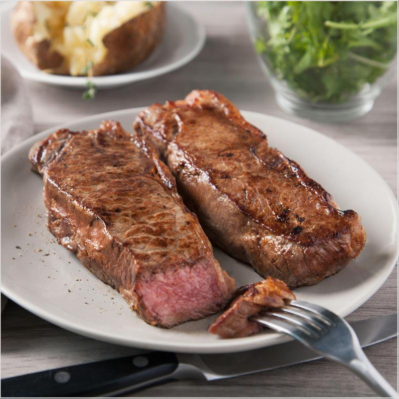New York Strip 10 oz. Beef Steaks - Pre Brands - Certified Paleo, KETO Certified by the Paleo Foundation