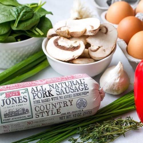 Country Style Pork Sausage frozen - Jones Dairy Farm - Certified Paleo, KETO Certified - Paleo Foundation