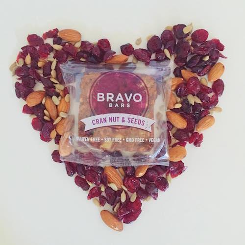 Cran Nut and Seeds Bravo Bars Heart - Nutritious U - Paleo Friendly - Paleo Foundation