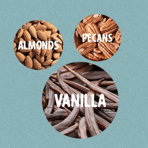 vanilla cinnamon and pecans