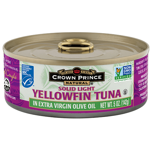 Natural Yellowfin Tuna in Extra Virgin Olive Oil - Crown Prince Seafood - Certified Paleo - Paleo Foundation