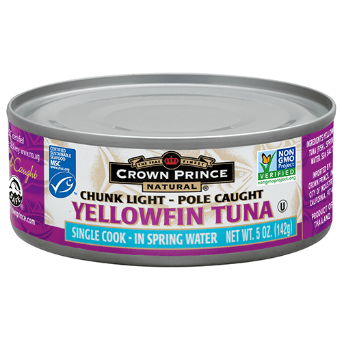 Natural Yellowfin Tuna in Spring Water - Crown Prince Seafood - Certified Paleo - Paleo Foundation