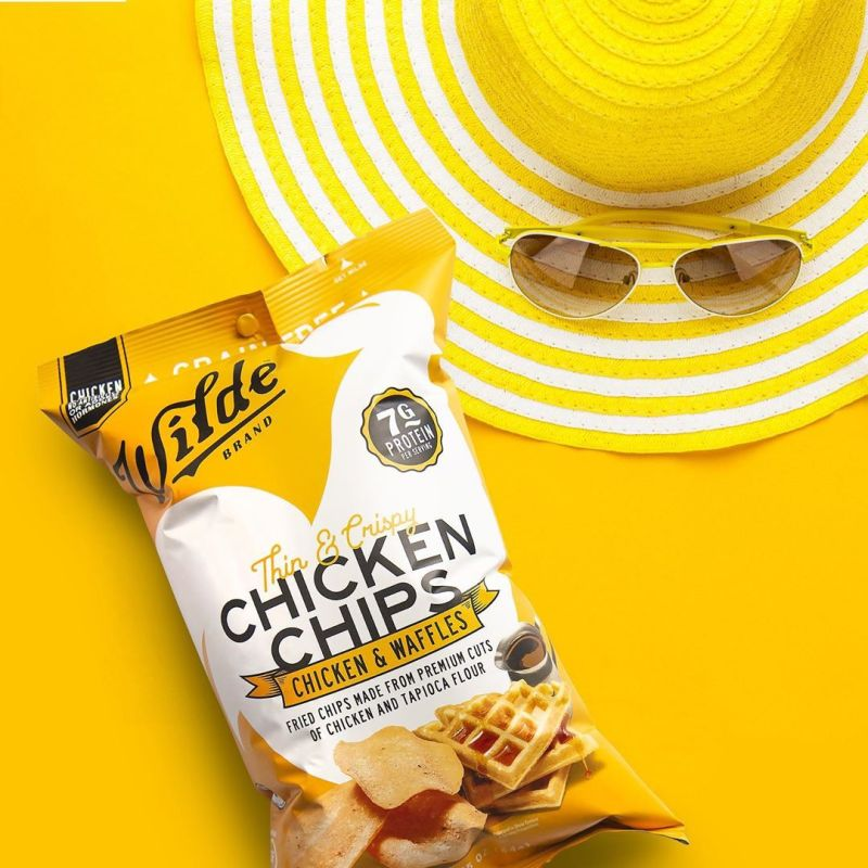 Chicken and Waffle Chicken Chips 3 - Wilde Brands - Certified Paleo Friendly by the Paleo Foundation