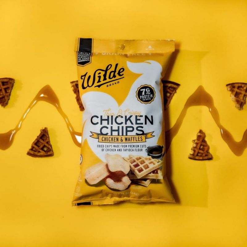 Chicken and Waffle Chicken Chips - Wilde Brands - Certified Paleo Friendly by the Paleo Foundation