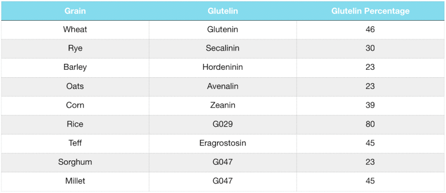 grains and pseudograins glutelin fraction