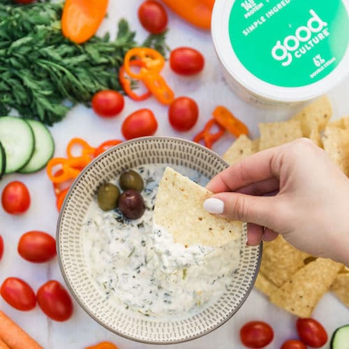Simply Cottage Cheese Double Cream Classic Spinach Dip - Good Culture - Keto Certified - Paleo Foundation