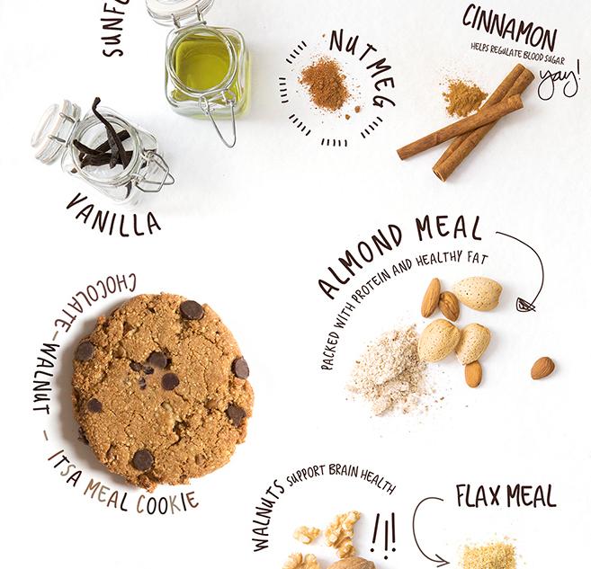 Chocolate walnut paleo vegan grain free cookie