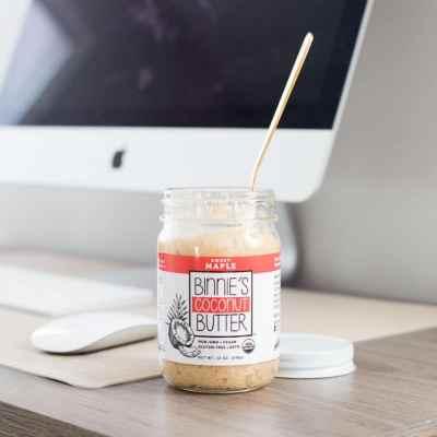 Just Maple Binnie Butter - Binnie's Coconut Butter - Keto Certified - Keto Diet Certified - Paleo Foundation