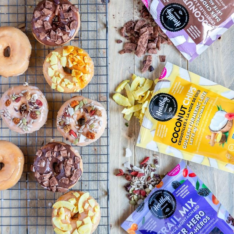 Donuts & Trail Mix + Coconut Chips - The Healthy Crunch Company - Certified Paleo - Paleo Foundation