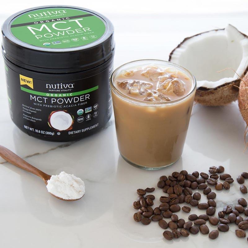 Organic MCT Powder with prebiotic acacia fiber - Nutiva - Certified Paleo, KETO Certified - Paleo Foundation