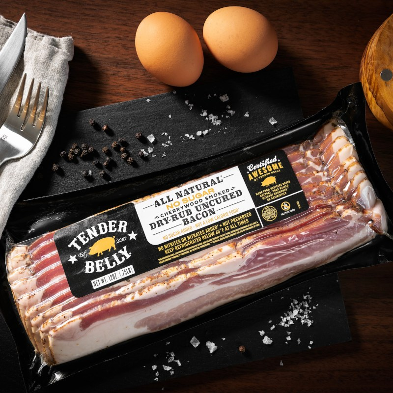 No Sugar Dry-Rub Uncured Bacon - Tender Belly - Certified Paleo, KETO Certified - Paleo Foundation