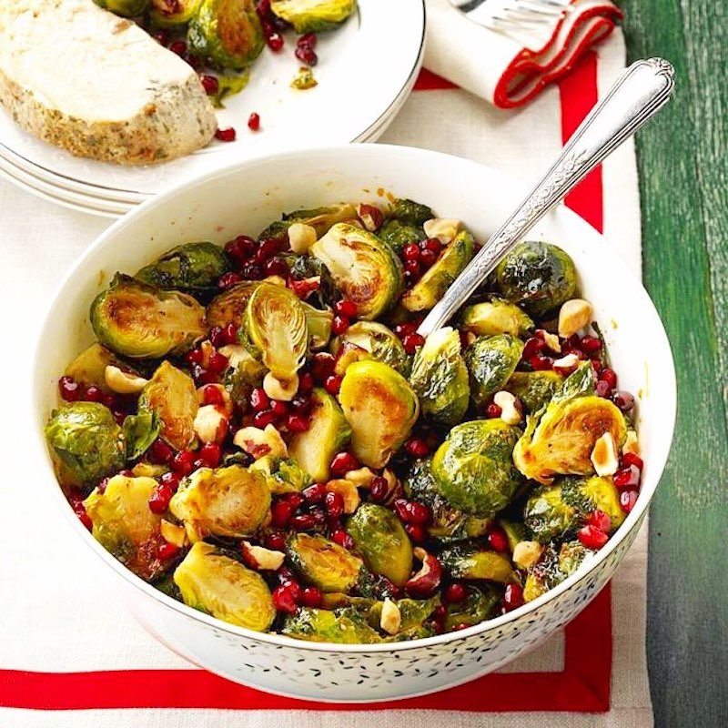 Blue Agave-Roasted Brussels Sprouts with Vegan Cashew Glaze - Health Garden of USA - Paleo Friendly, PaleoVegan by the Paleo Foundation