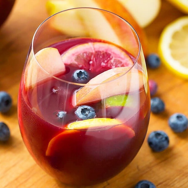 Summer Sangria with Agave Sweetener Blue - Health Garden of USA - Paleo Friendly, PaleoVegan by the Paleo Foundation