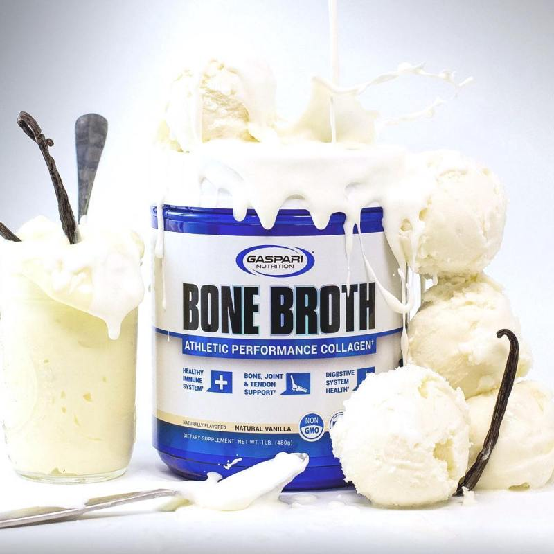 Bone Broth Collagen with Vanilla - Gaspari Nutrition - KETO Certified by the Paleo Foundation