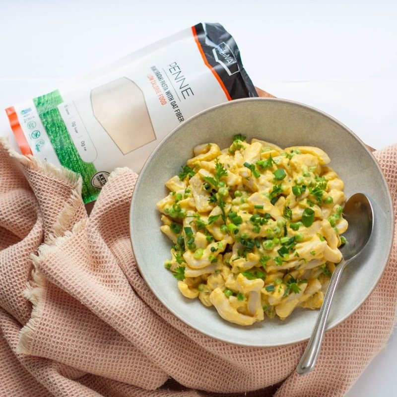 Low-carb Mac and Peas - Liviva Foods - KETO Certified by the Paleo Foundation