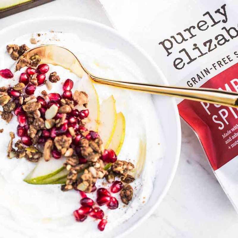 Pumpkin Spice Grain-Free Granola 1 - Purely Elizabeth - Certified Paleo, KETO Certified by the Paleo Foundation