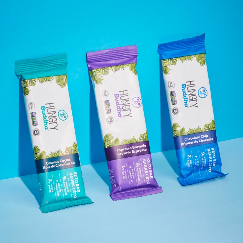 Lineup Hungry Buddha Keto Bars - KETO Certified by the Paleo Foundation