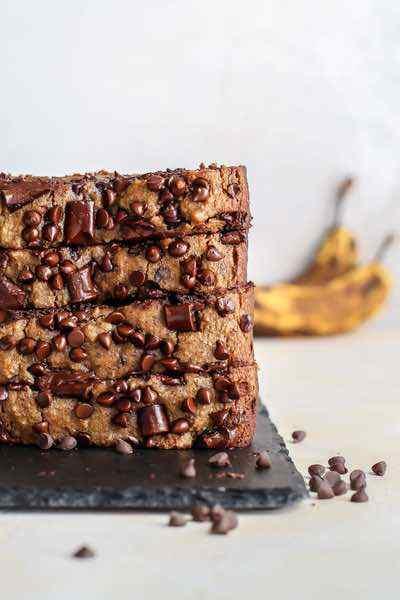 Almond Flour Chocolate Chip Banana Bread